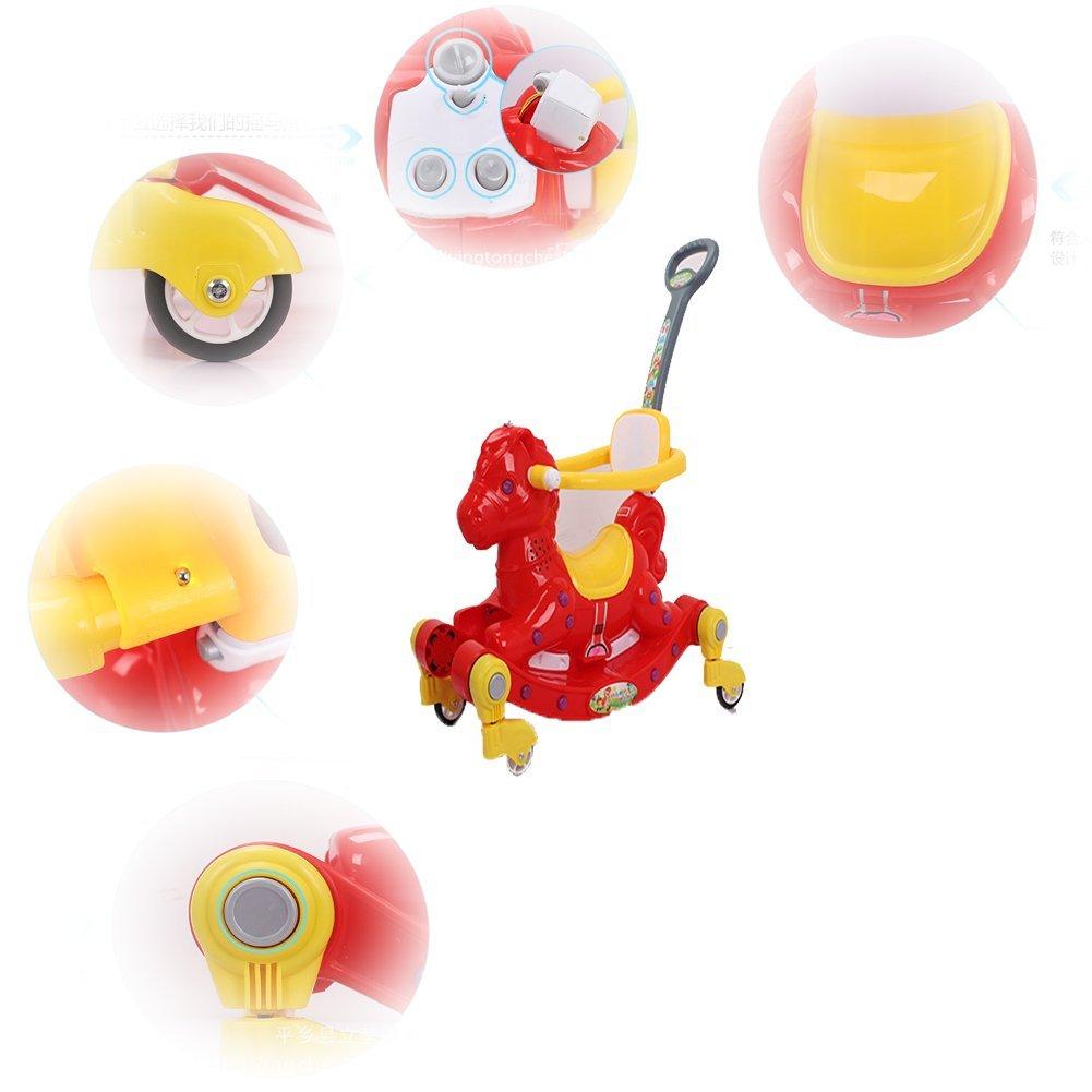 Carretilla de cuatro ruedas para niños Música para niños Caballito ...