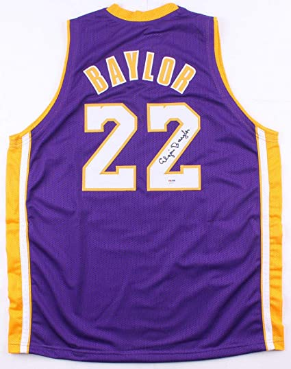 cbabac8de9df Elgin Baylor Autographed Signed Lakers Jersey - PSA DNA Certified at ...