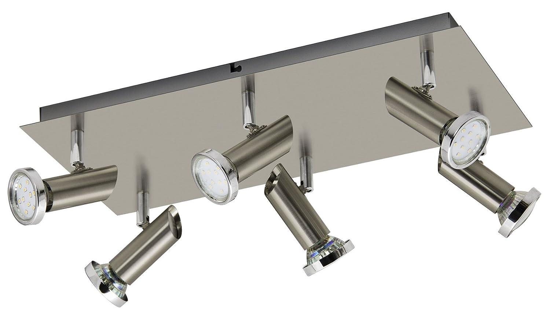 Trango 4-flg. TG3177 in Quadrat LED Design Deckenleuchte Deckenlampe ...