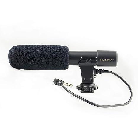 Micrófono de cámara Hapy, EIVOTOR Mic-01 3,5 mm micrófono de ...