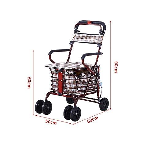CUI XIA UK Trolley Carro De Compra con Asiento, Andador para ...