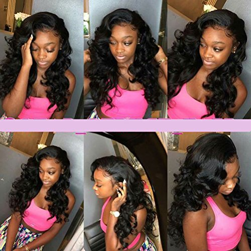 Loose Wave Brazilian Hair 8A Brazilian Loose Wave 3 Bundles Unprocessed Human Hair Extensions Mink Hair Bundles Wet and Wavy Human Hair Natural Black (20'' 22'' 24'') by Shireen Hair (Image #6)