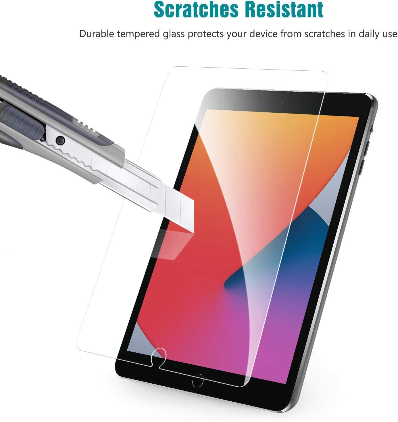2 Piezas 2020//2019, 7/ª//8/ª Generaci/ón ,Cristal Templado iPad 8/ª Generaci/ón Anti-ara/ñazos KAPRNA Protector Pantalla Compatible con iPad 10.2 Pulgadas