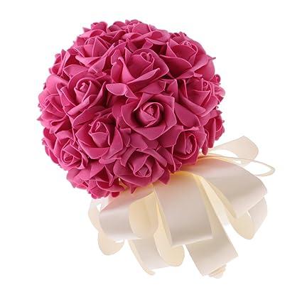 Buy Segolike Artificial Foam Roses Flower Bouquet Wedding Bride