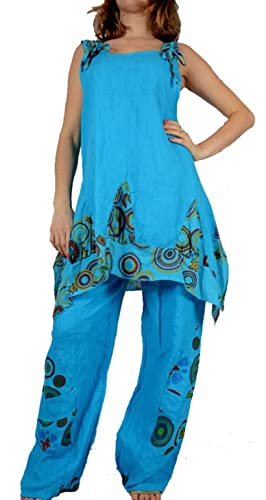 Grisodonna Style – Pantalón – harem – para mujer azul 46