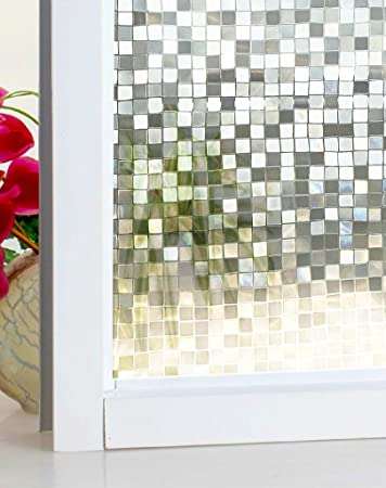 Amazing DuoFire Stained Privacy Glass Film Non Adhesive Static Cling Window Film  DL014(35.5 X