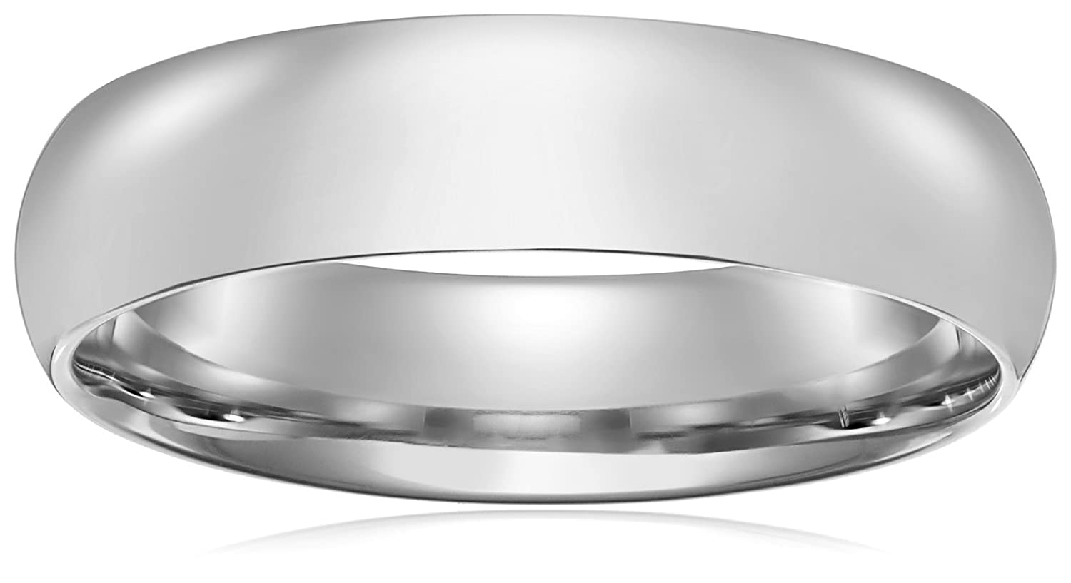 platinum dome tungsten white plain ring wedding band carbide bands