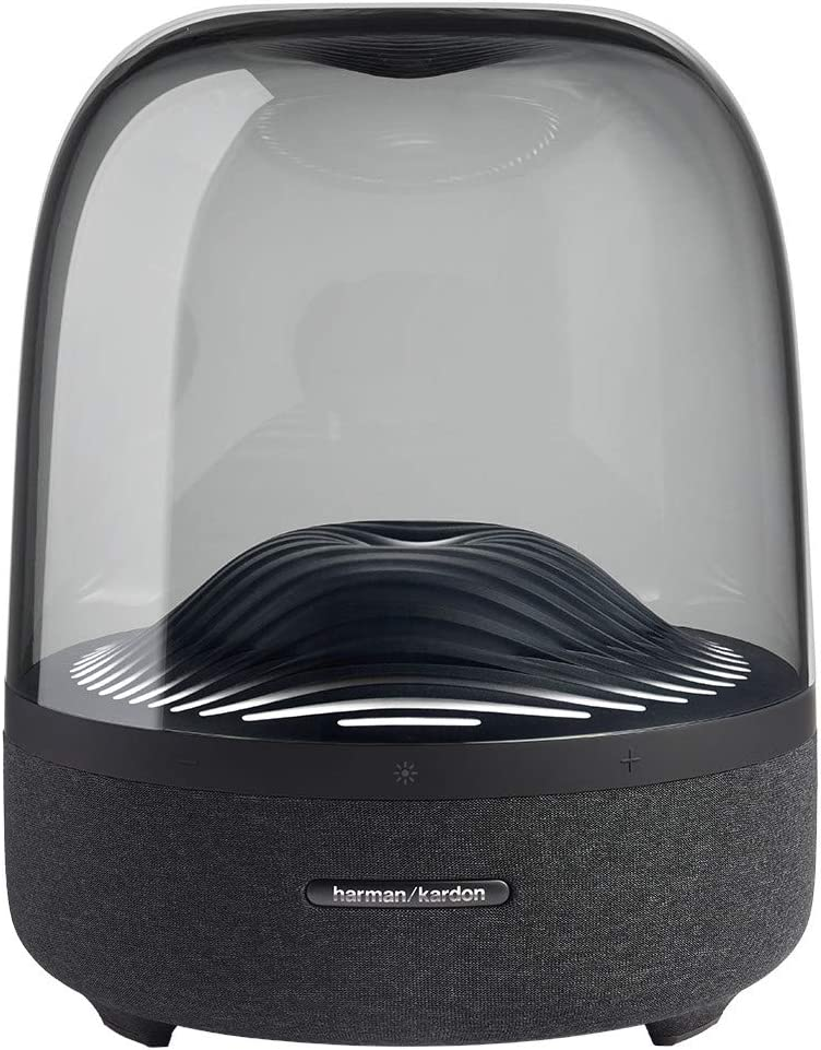 Harman Kardon Aura Studio 3 - Elegant, BT Wireless Speaker with Premium Design and Ambient Lighting- Black