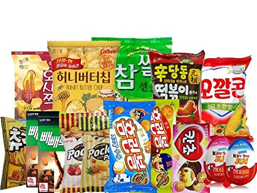 (Korean snack box) mixed Variety of Korean Snack with Kinder Joy,15 Count (Pack of (Discontinued Snacks)