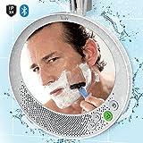 iLuv Aud Shower Mirror - Wireless Bluetooth Shower Speaker with Anti-Fog Mirror