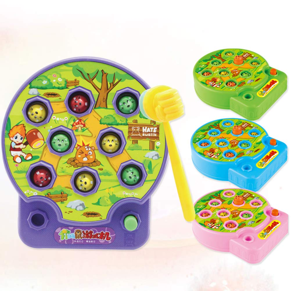 STOBOK Kids Toys Games Electric Whack A Mole Music Toys Funny Toy Baby Educational Toys Random Color