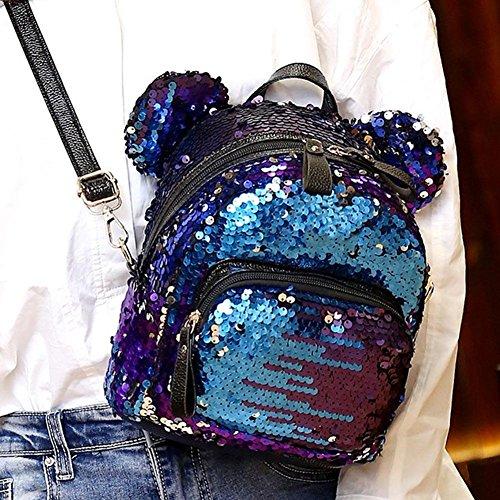 au Rose 2nt0rf3mn8xq0gk3D03 Main Bleu pour à Rose Dos porté Occitop Sac Femme AzzqI