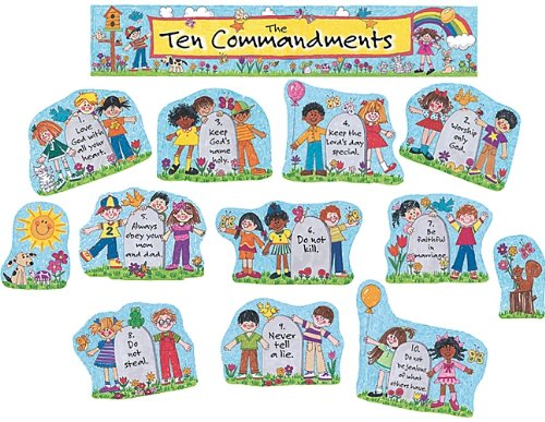 Teacher Created Resources Children's Ten Commandments Bulletin Board Display Set (7000) -