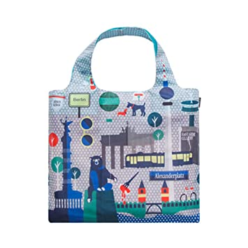 LnLyin Wasserdichte Reise Handtasche Wiederverwendbare Faltbare Shopping Eco freundliche Taschen große Tote Einkaufstasche, Berlin
