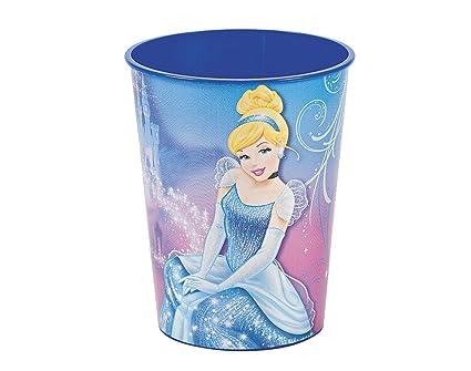 Diseño con forma de Cenicienta de fiesta de plástico taza de princesas Disney | Plástico reutilizable