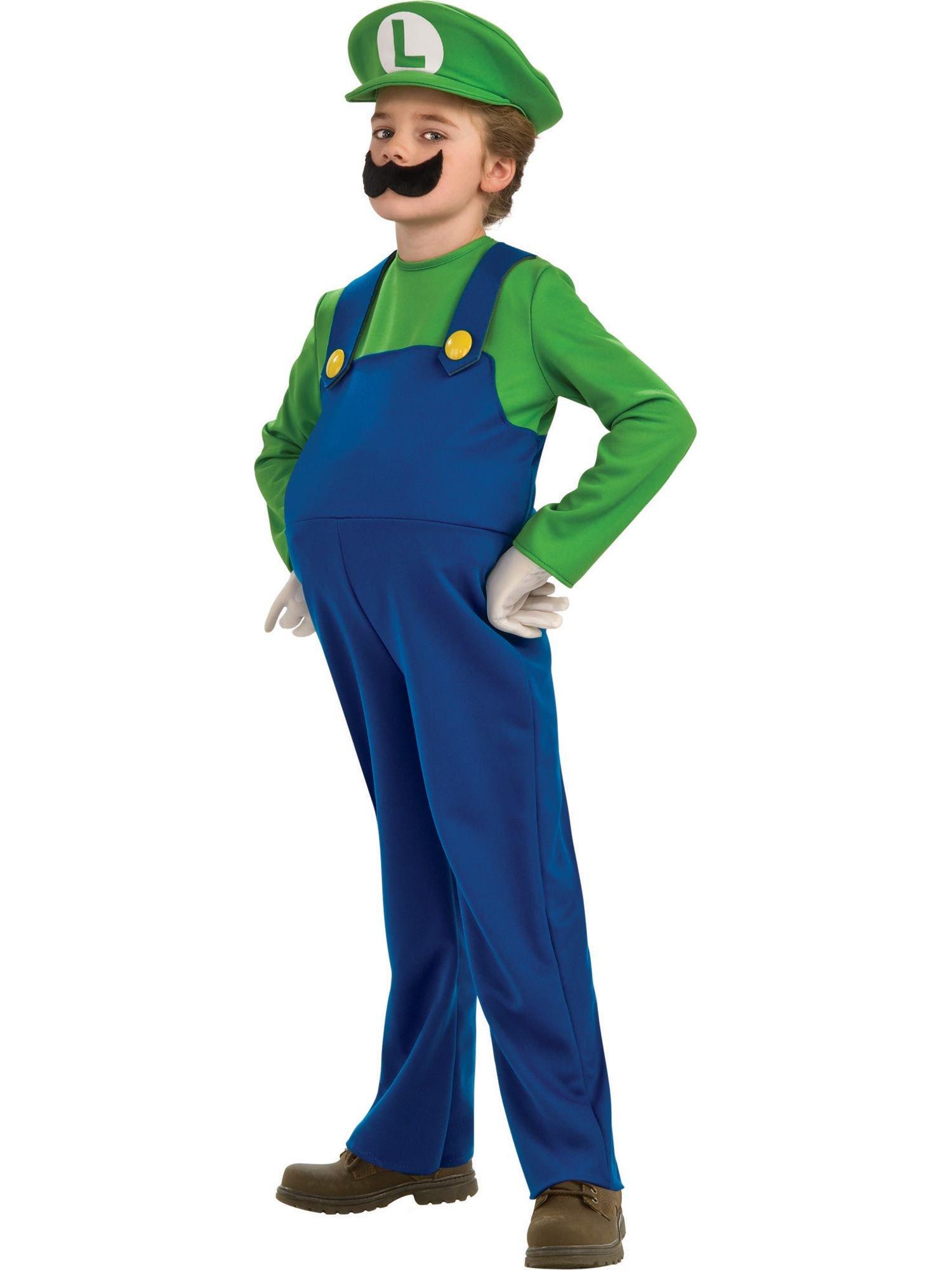 Boy's Nintendo's Super Mario Brothers Luigi Deluxe Costume, 4-6