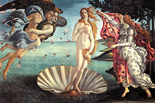 - Botticelli - Birth of Venus, Size 24x36 inch Poster Print Wall Decor