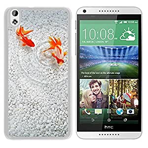 Unique DIY Designed Cover Case For HTC Desire 816 With Goldfish Couple Animal Mobile Wallpaper (2) Phone Case