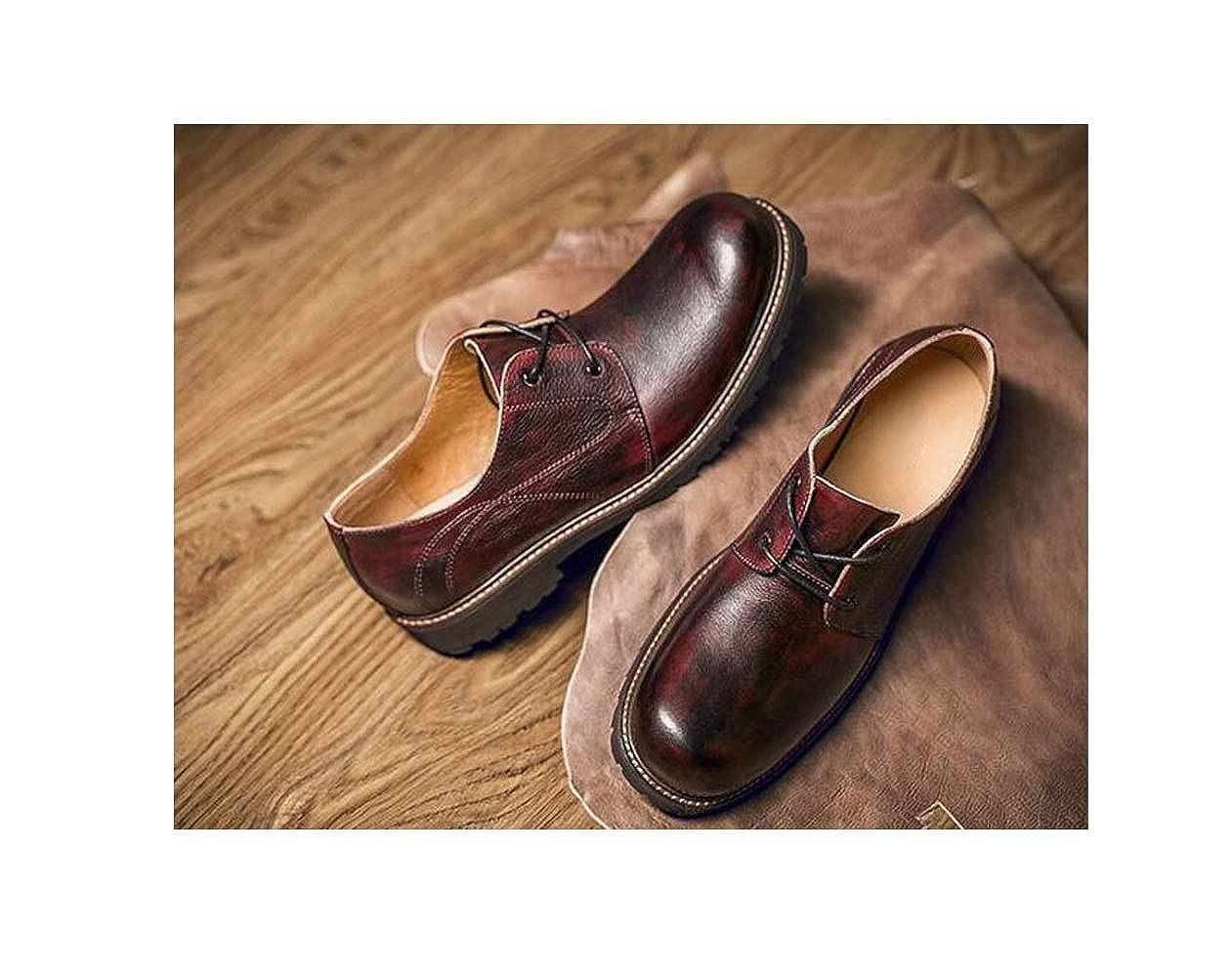 Leder Schuhe, Männer, Frühling, Geschäft, Sommer, Schuhe, Ribbon, Rund, Geschäft, Frühling, Freizeit ROT 864921