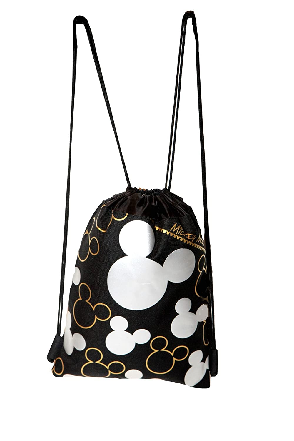 55Star-td Mickey Mouse Silver Drawstring Backpack