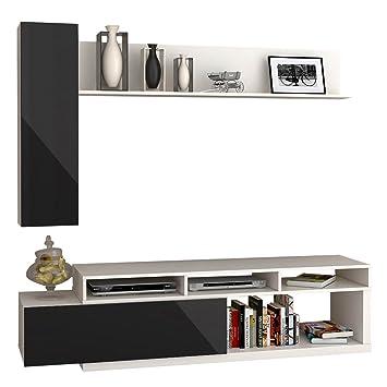 Wohnwand Lumia 1P, Design Mediawand, Modernes Wohnzimmer Set, Anbauwand,  Hängeschrank, Wandregal