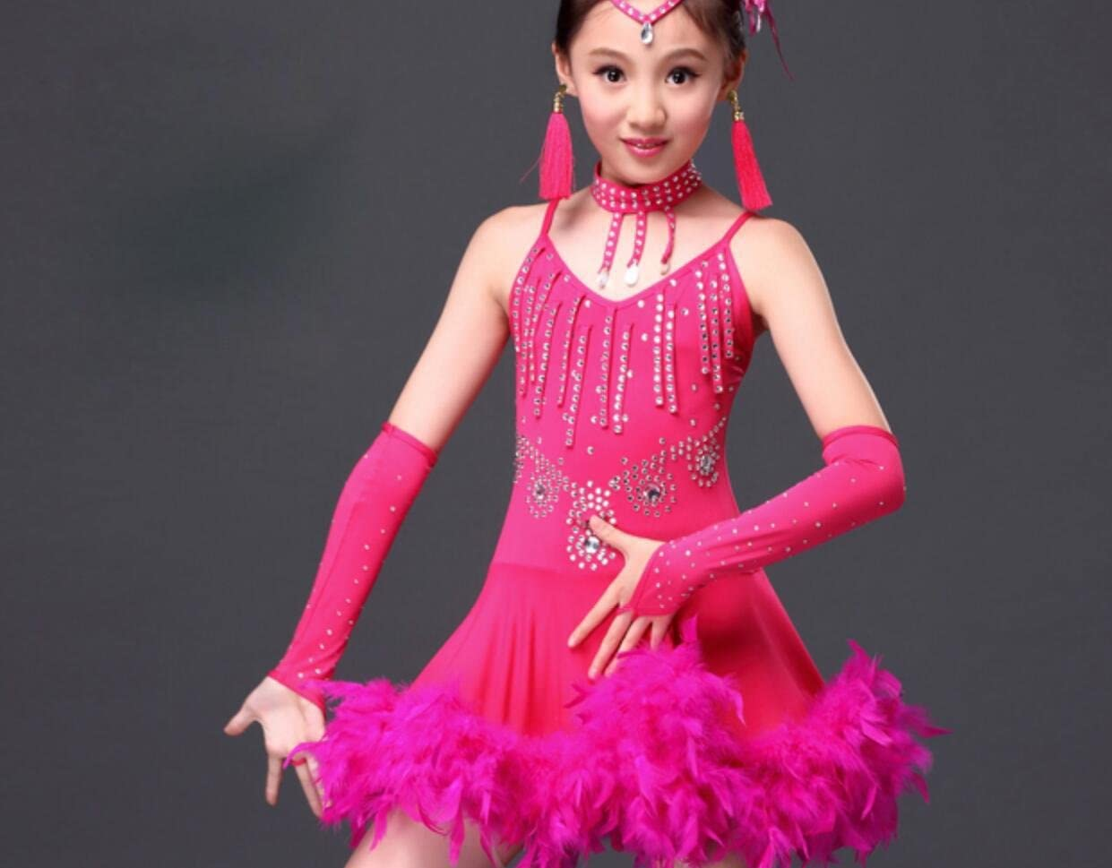Disfraz de Falda de Baile Latino para niños con Pluma de ...