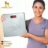 Hesley Weighing Scale/Weighing Machine with Step-On Technology, 180 kgs, SAL-002 Premium Silver series