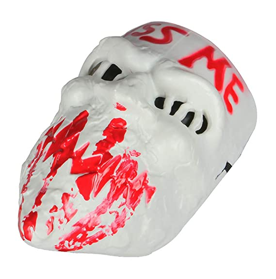 Amazon.com: Gmasking 2018 PVC Halloween Election Horror New Year Kiss Me Cosplay Mask Costume Props (White): Toys & Games