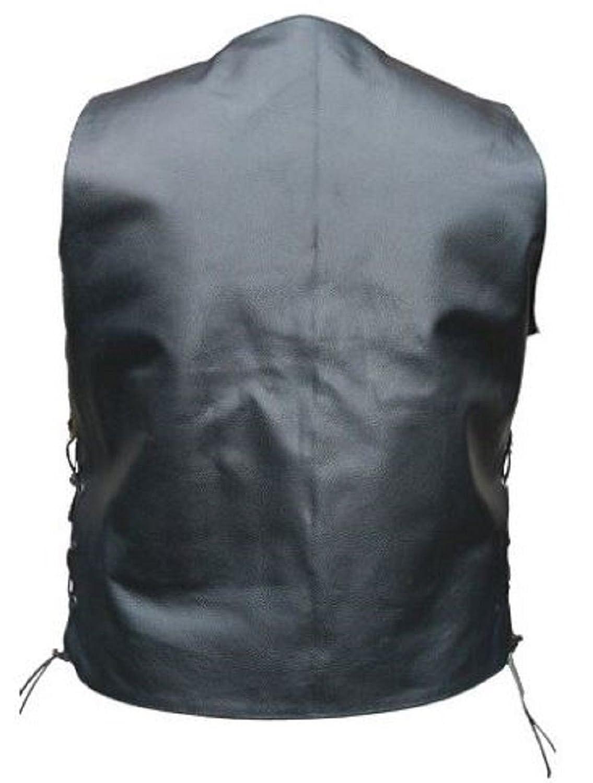 Celebrita X Leather Waist Coat WIth Pocket Vest