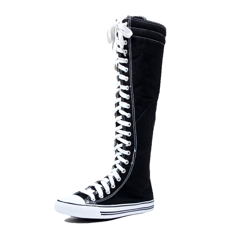 DW West BLVD Sneaker Boots Black White