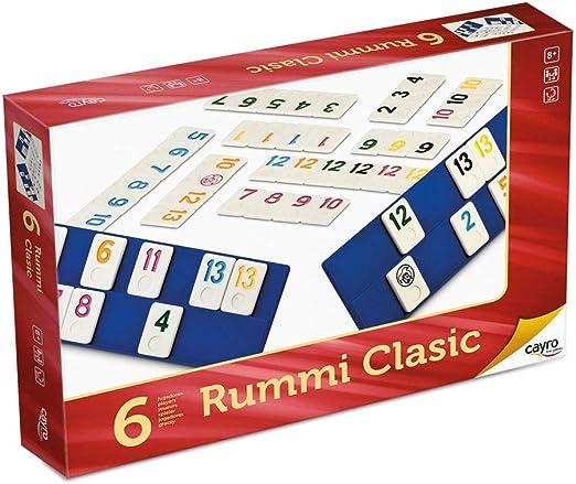 Cayro - Rummi Clasic 6 Jugadores Grande - Juego Tradicional - Juego de Mesa - Desarrollo de Habilidades cognitivas y lógico matemáticas - Juego de Mesa (744): Amazon.es: Juguetes y juegos