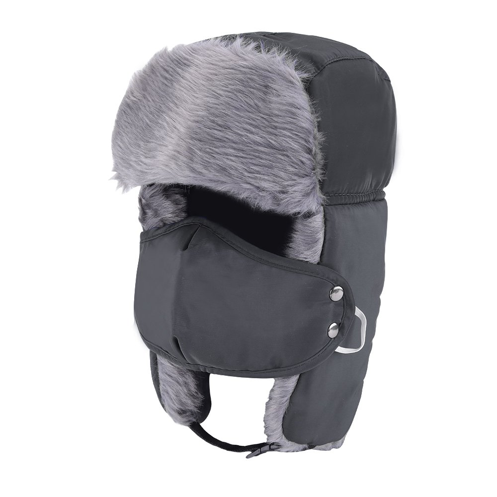 7ee04f25055 Prooral Unisex Winter Trooper Trapper Hat Hunting Hat Ushanka Ear Flap Chin  Strap and Windproof Mask Nylon Russian Style Winter Ear Flap Hat for Men  Women ...