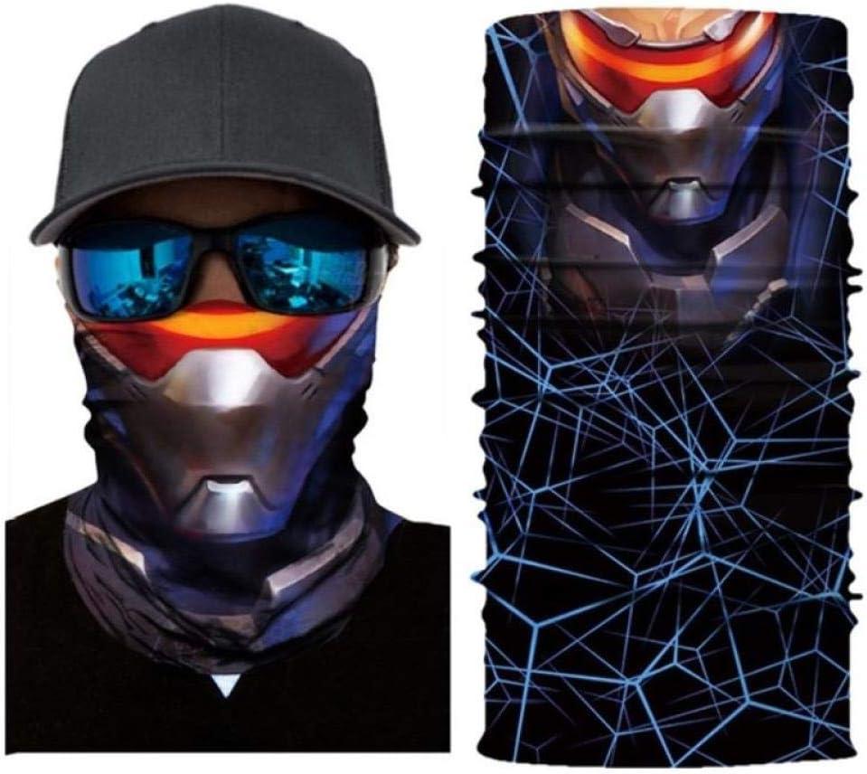 OLGN Buff Multifunktionstuch 3D Skeleton Nahtlose Magic Neck Biking Motorrad Kopf Heizung Ski Sturmhaube