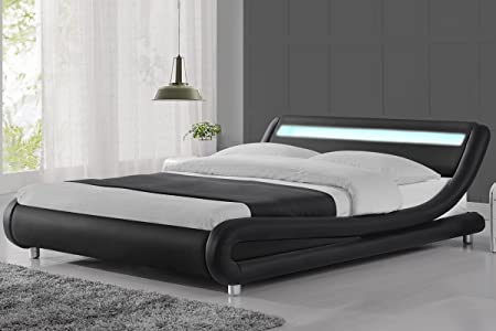 leather grace bed bedframe frame synthetic