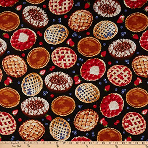 Foodies Collection - Fruit Pies Cotton Fabric Foodie Collection Michael Serle by The Yard