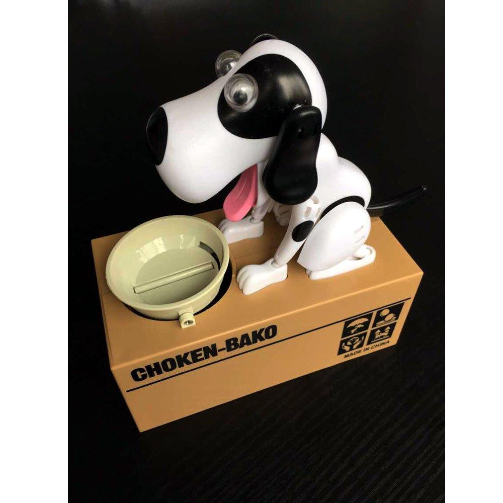 Puppy Doggy Bank Hungry Hound Money Banks Kids Bank Coin-Eating Money Saving Box Black