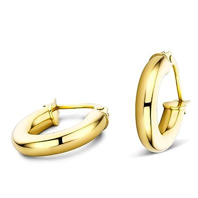 8c8869b9b4cc9f Orovi Ohrringe Damen Gelbgold 14 Karat   585 Gold Creolen  Amazon.de   Schmuck
