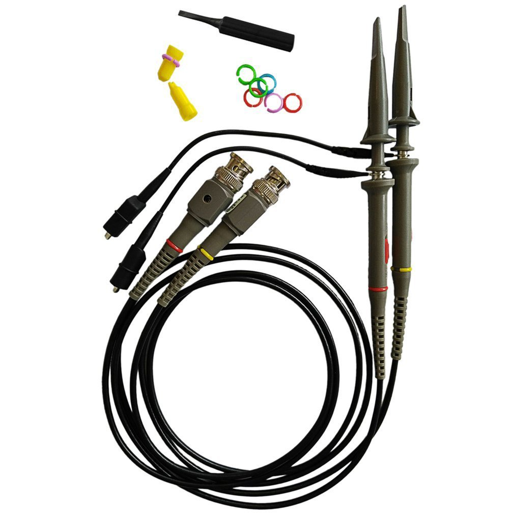 1 Set P6100 DC-100MHz Oscilloscope Probe 100MHz Scope Clip Probe for Tektronix