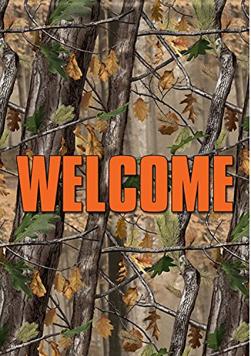 Garden Flag, Camoflauge Welcome