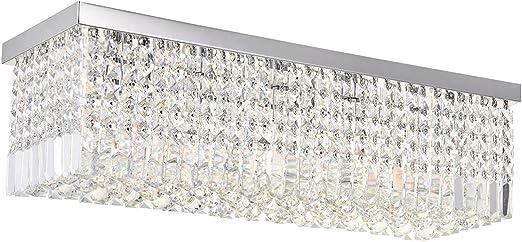Rectangular Crystal Chandelier | modern rectangular crystal