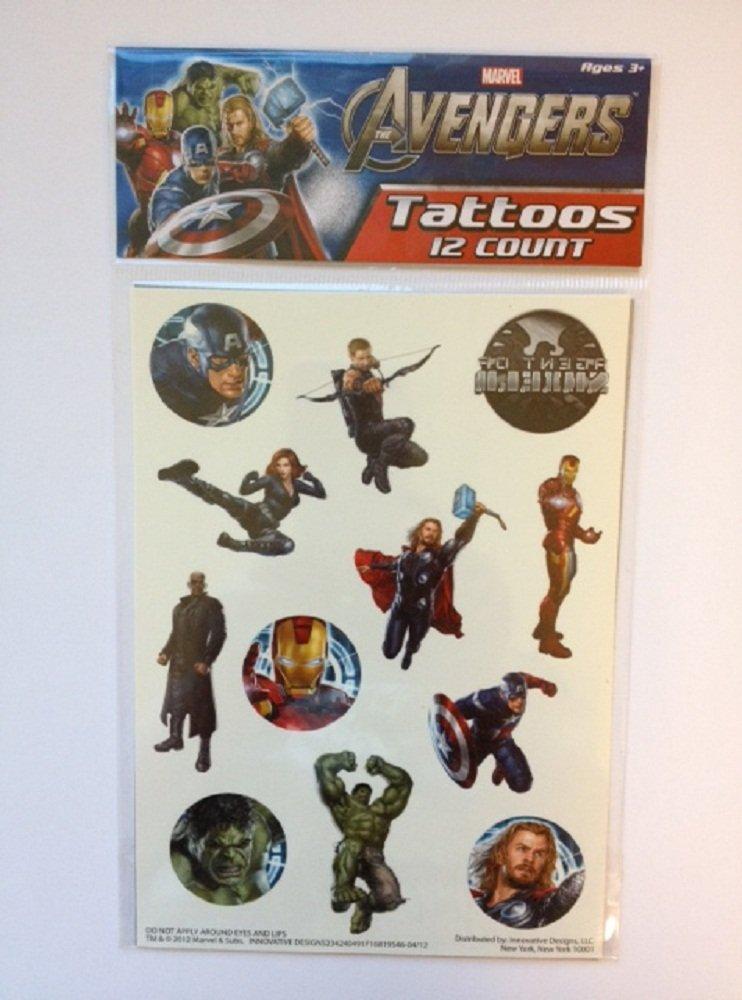 Tatuajes de Los Vengadores (12 Unidades): Amazon.es: Juguetes y juegos