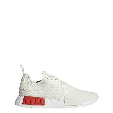 super popular d7fe7 a8333 adidas Originals Men's NMD_R1 Off-White/Off-White/Lush Red 12.5 D US D (M)