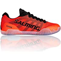 Salming Hawk - Zapatillas de Balonmano para Interior, Color Rojo y Negro