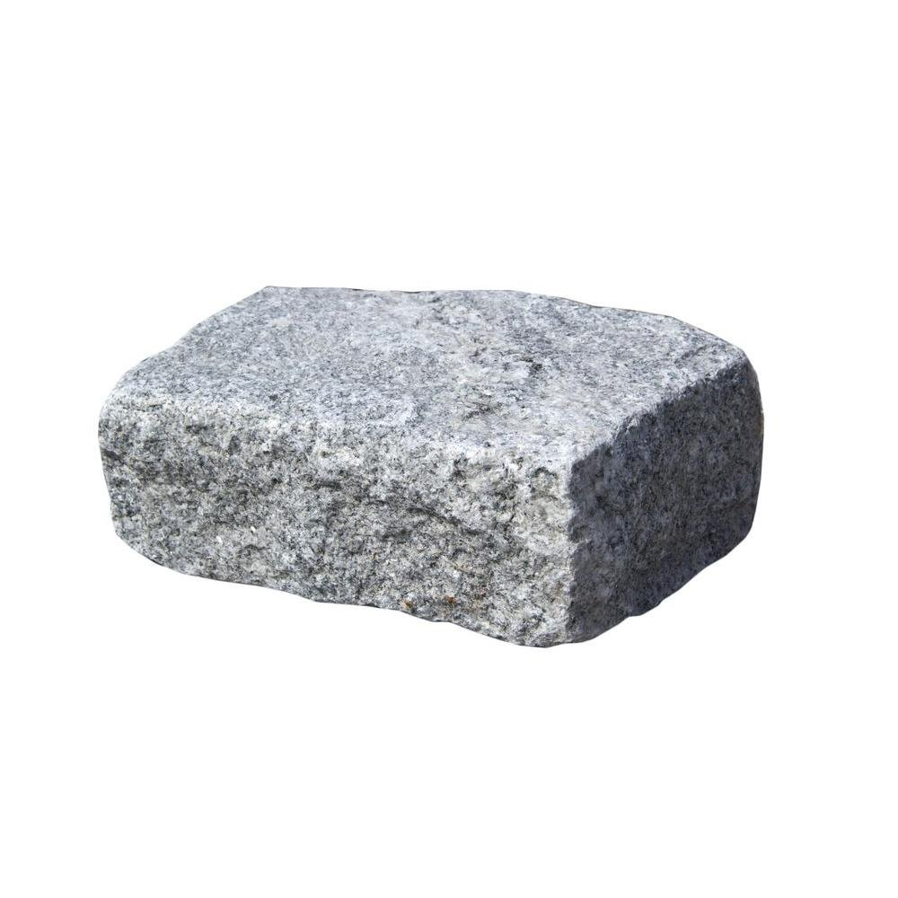 Nantucket Pavers Cobblestone 10 in. x 7 in. x 4 in. Granite Gray Edger Kit