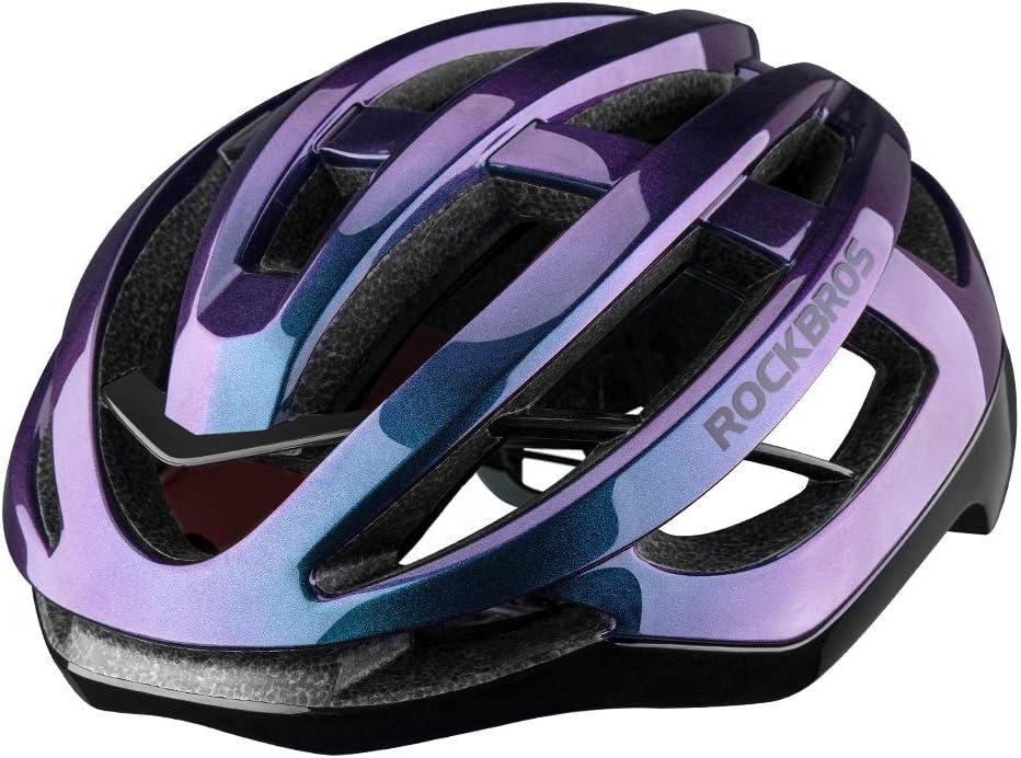 ROCK BROS Road Bike Helmet for Men Women Adult Bicycle Helmet Cycling Race Helmet Gradient Lightweight for Mountain & Road Bike