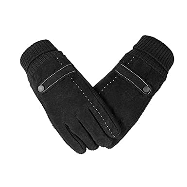 Generous Ski Winter Gloves For Men Thickened Warm Male Mittens Black Fleece Liner Touch Screen Gloves Outdoor Windproof Drive Warm Gloves Comfortable And Easy To Wear Back To Search Resultsapparel Accessories