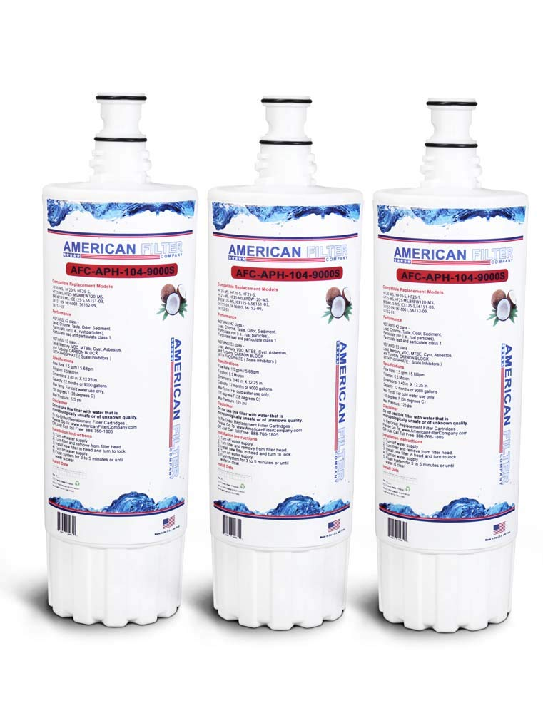 American Filter Company 3-Pack (TM) Brand Water Filter (Comparable with Body Glove BG-3000C Filters)