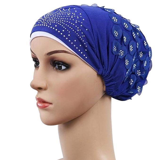 Damen Muslimische Stretch Turban Mütze Frauen Häkeln Beanie ...