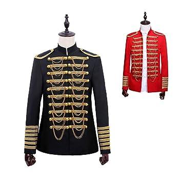DuHLi Steampunk Vintage Coat British Prince Traje Militar ...