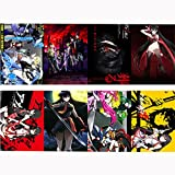 Vicwin-One Akame ga KILL Akame Posters Wallpaper Cosplay(8 pieces 11.4*16.5Inch)